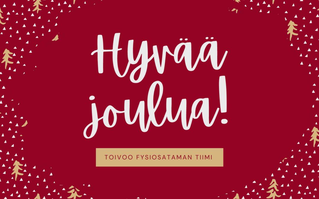 Joulutervehdys FysioSatamasta